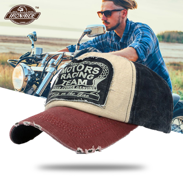 a99bb3aa4 Vintage Washed Denim Cotton Distressed Motorcycle Caps Baseball Hat Face  Mask Snapback Motorbike Dad Hat Moto Biker Riding Caps-in Motorcycle Face  ...