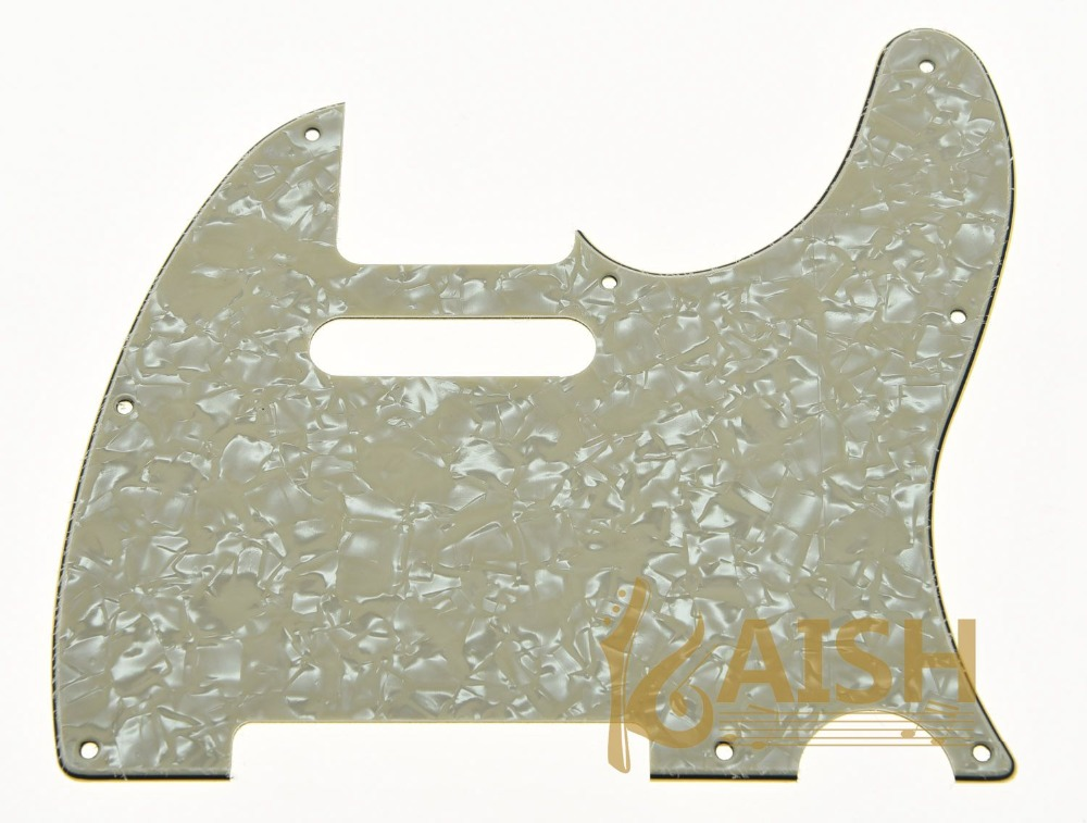 KAISH Aged Pearl Guitar Pick Guard Scratch Plate Fits TL Guitar