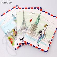 1PC Fashion New PU Women Passport Holder Girls Travel Cover Unisex Card Case Man