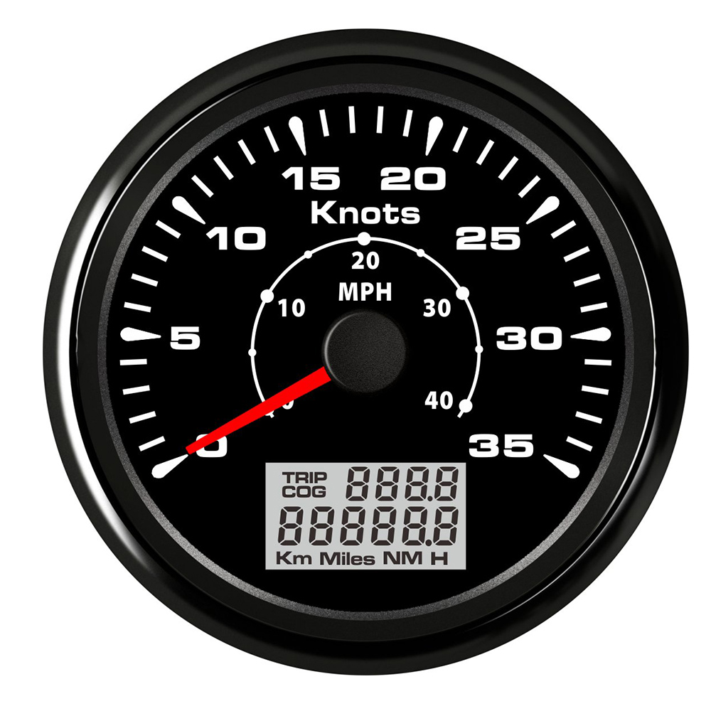 Universal Marine Car GPS Speedometer 40 MPH 80 MPH Speedometer Gauge with 7 Colors Backlight Waterproof