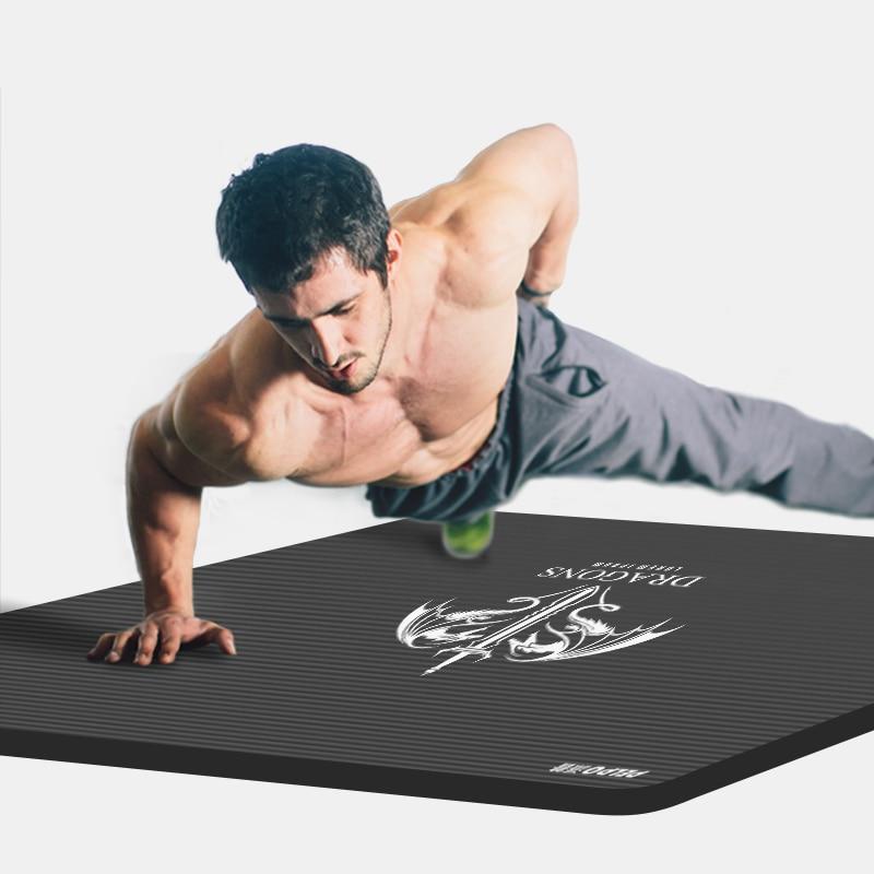 MEN Yoga mat Non Slip Mat Blanket Men Women Fitness Exercise Pilates Workout Indoor 185*80*15 non slip full toe socks for yoga workout fitness