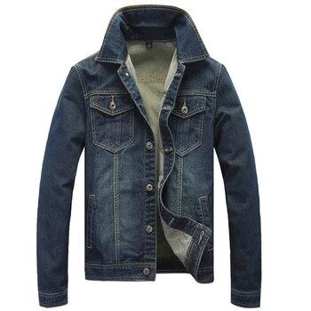 2018 Spring Autumn New Casual Slim Jaqueta Jeans Good Quality Dark Blue Color Denim Jacket Men