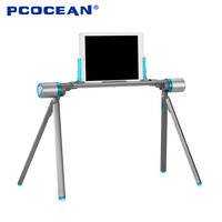 Pcocean Universal Aluminum Foldable Tablet Stand Lazy Bed Mobile Device Tablet Holder For IPad Samsung Pad