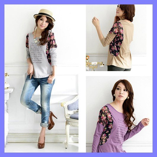 40082ce4da6 Free shipping 2013 spring new fashion t shirt women long sleeve clothing  plus size summer top wholesale and retail ioeoi5004