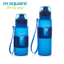 M Square Travel Accessoris for Folding Silicone Water Bottles Foldable Drinkware Drinking Bottle for Women Man