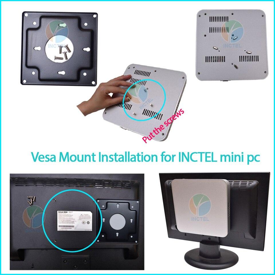 install vesa mount mini pc inctel