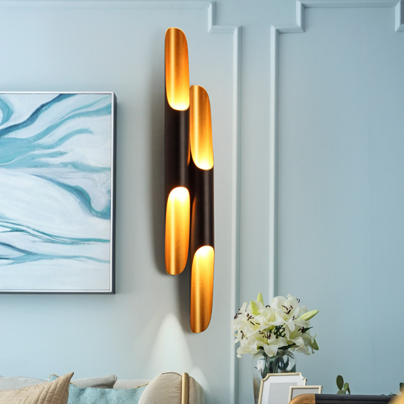 Replica Delightfull Coltrane modern wall light lamp sconce LED up down aluminum pipe wing 2 lights black golden wall lamp lightReplica Delightfull Coltrane modern wall light lamp sconce LED up down aluminum pipe wing 2 lights black golden wall lamp light