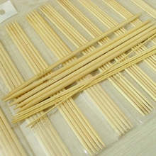 11 размеров 20 см Бамбуковые вязальные крючки для вязания двойные Заостренные Бамбуковые Иглы свитер ткацкая игла