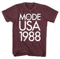 Depeche Mode 1988 Tournée USA Hommes T chemise camisa masculina 100% coton Imprimé T-Shirt GRANDE TAILLE 48 50 52 54 56 60