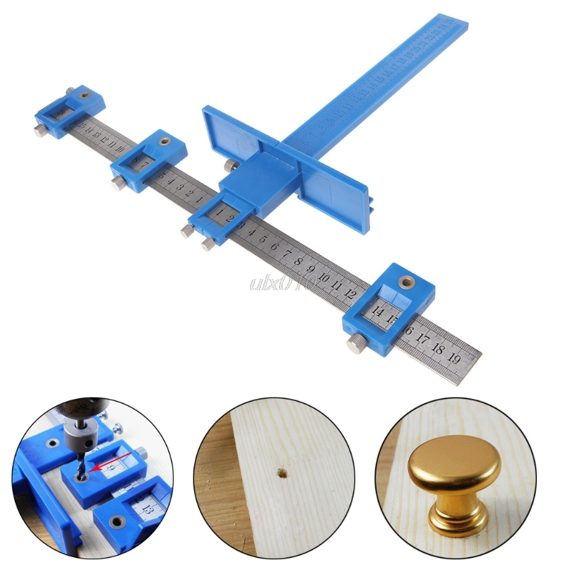 Punch Locator Drill Guide Woodworking Drilling Dowelling Hole Saw Adjustable New S09 Drop ship