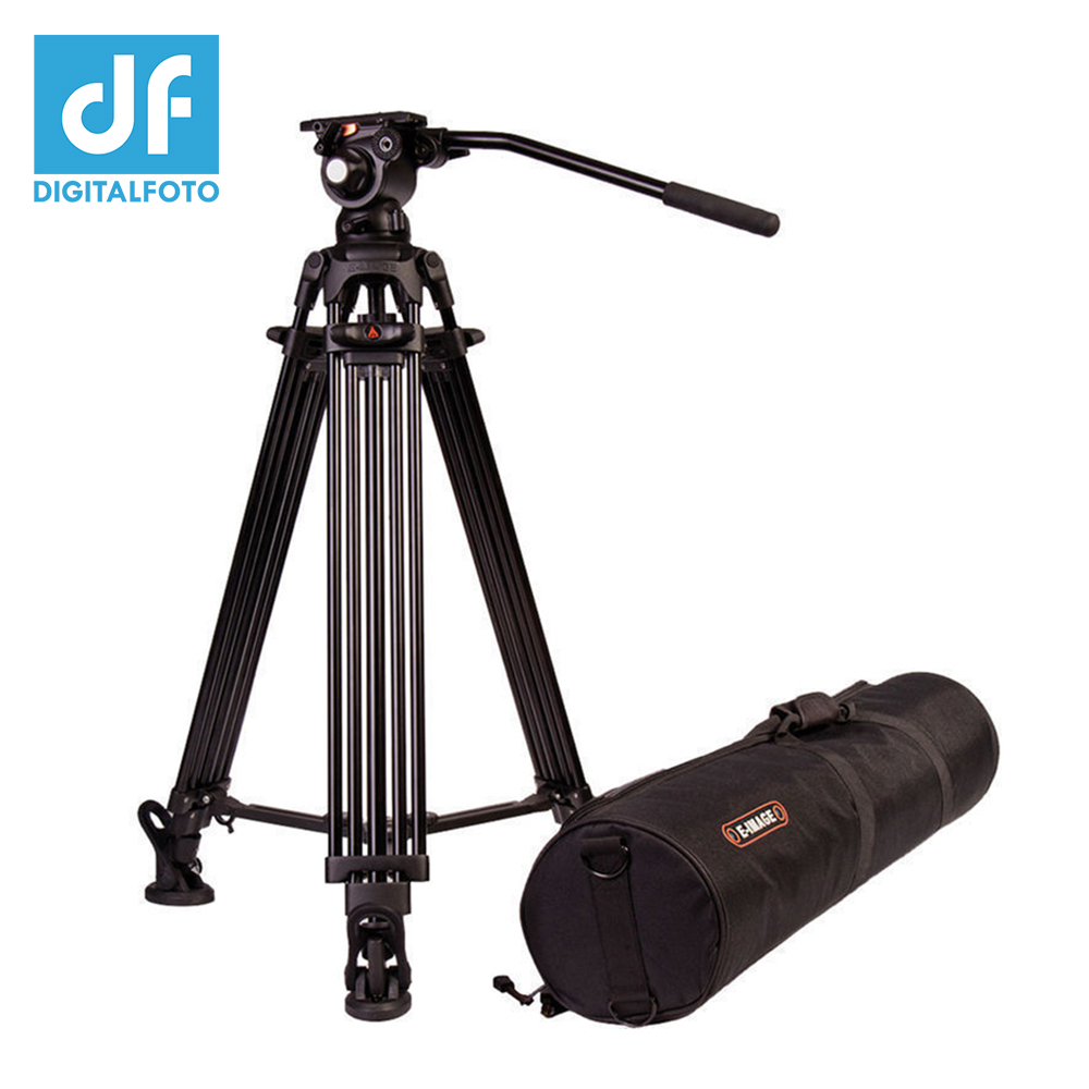 E-IMAGE EG03A Professional Alloy aluminum 75mm Bowl GH03 Fluid head Video tripod 2-Stage