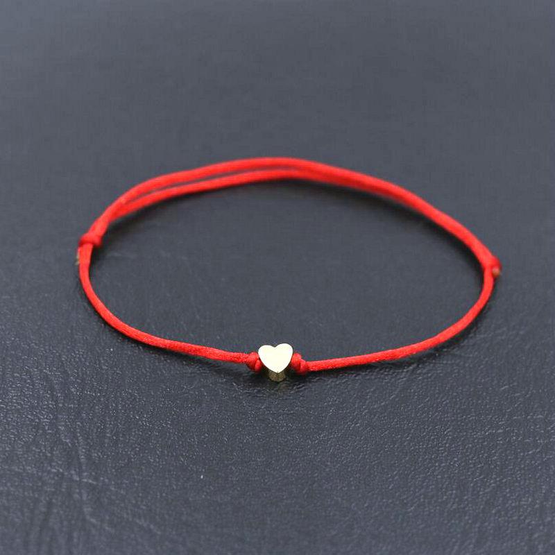 Charm Bracelet Thin Red Rope Thread
