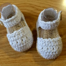 Zapatos de Bebé Del ganchillo, bebé Blanco, zapatos del Niño Del bebé