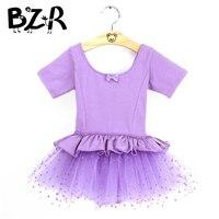Bazzery Kids Ballet Dresses Kid Toddler Girls Gymnastic Leotard Dancewear Dance Costumes Cotton Tulle Tutu Dress