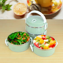 Sanqia 4 Layers leakproof 304 Stainless Steel lunch Box Portable Picnic Food Container bento tiffin box thermal dinnerware set(China)