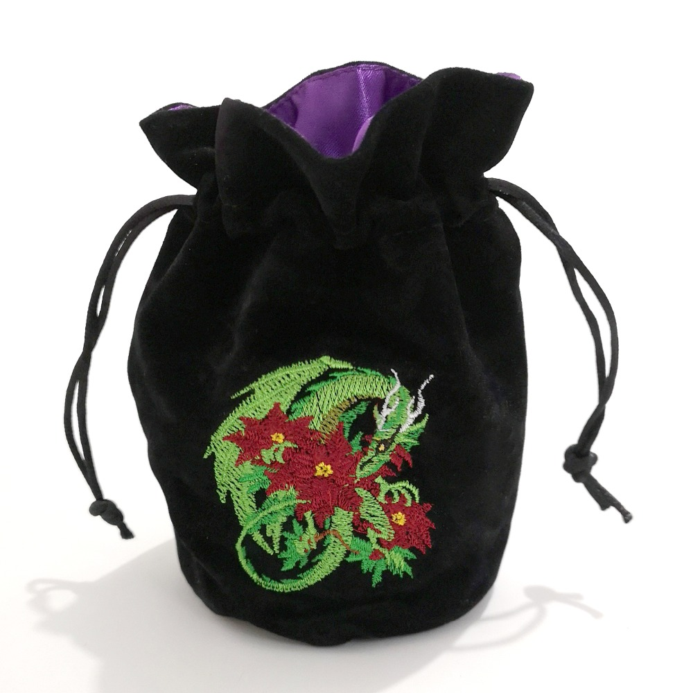 Rollooo Drawsting Velvet Dice Bag Dungeons And Dragons Real Embroidery