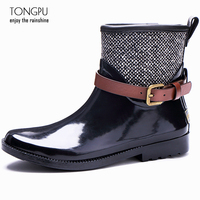 TONGPU Women Rubber Rain Boots