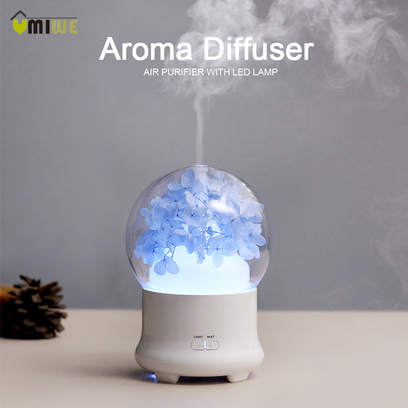 100Ml Fresh Flower Ultrasonic Aromatherapy Diffuser Aroma Diffuser Cool Mist Humidifier For Office Home Bedroom Living Room