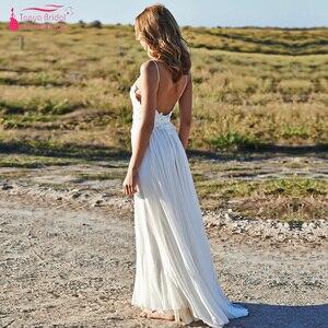 Image 4 - Modern Romantic Wedding Dresses Simplistic Elegant Fully Lined Skirt Bohemian Vestido De Noiva Bridal Gowns ZW168