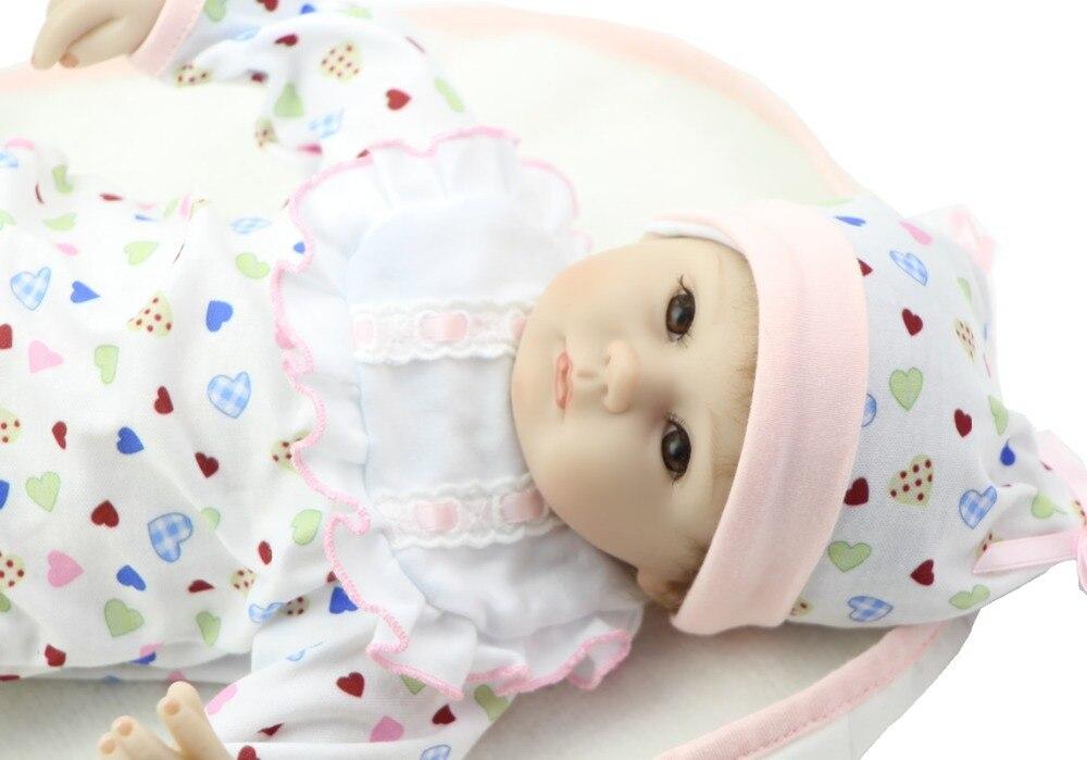 Realistic Silicone Reborn Babies 18 Inch Newborn Baby Doll Handmade Girl Dolls Kids Birthday Xmas Gift silicone reborn baby dolls 16 inch girl doll handmade babies stuffed