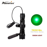 501B Led Green Light Tactical Flashlight Hunting Rifle Torch Shotgun Lighting Shot Gun Mount Tactical Mount