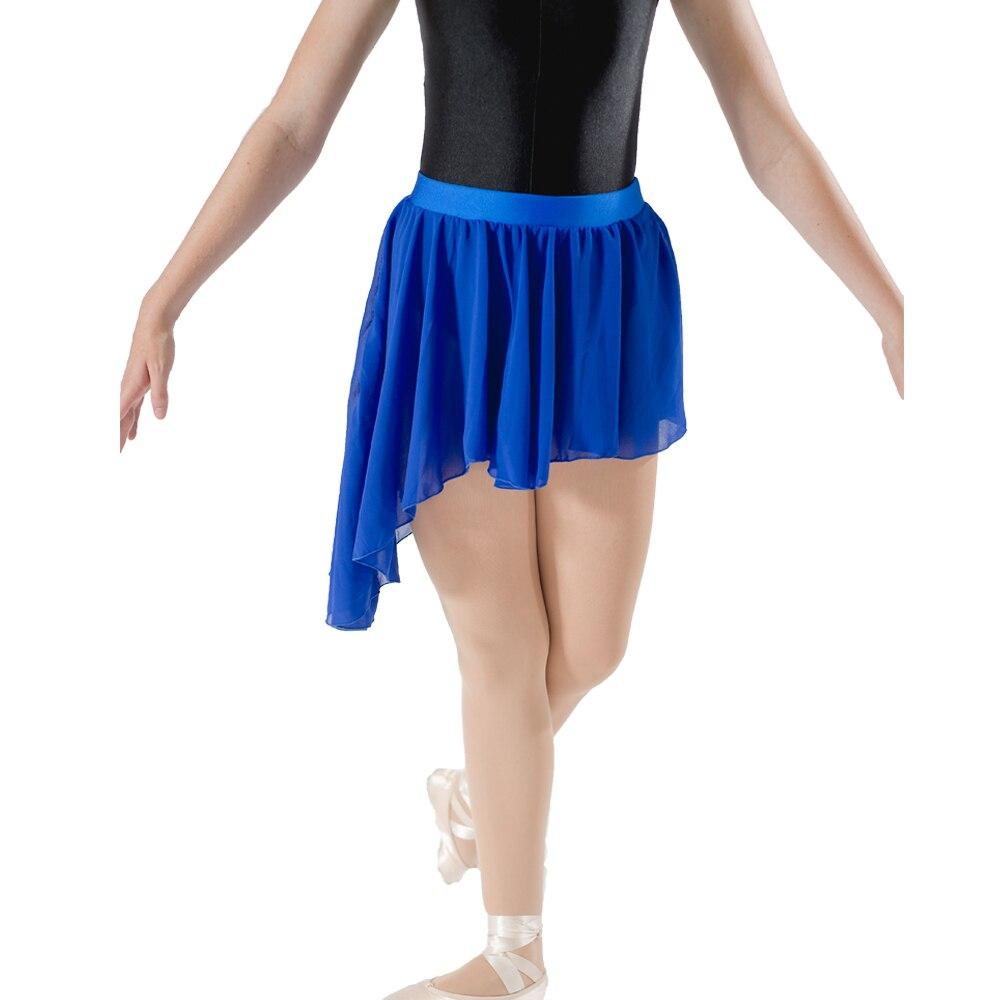 on sale 2424f cad9d US $5.86 15% di SCONTO|Blu Chiffon Irregolare Gonne Da Ballo Blu di  Nylon/Lycra Ragazze del Cinturino Balletto Dancewear partita con Body-in  Danza da ...