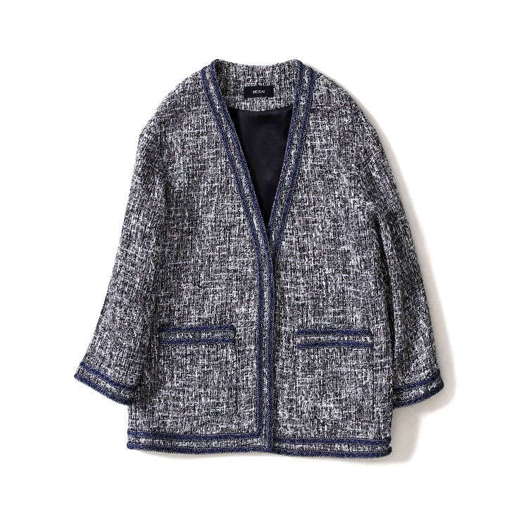 New spring and autumn period and the weave a v neck grey coat long cardigan female small joss stick the wind coat