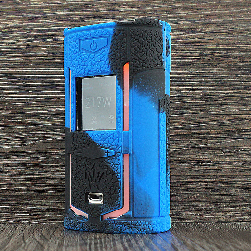 Texture Case for <font><b>VOOPOO</b></font> Woody Vapes <font><b>X217</b></font> 217W TC Box Mod Protective Silicone Sleeve Cover Shield Wrap for Woody Vape X 217 image