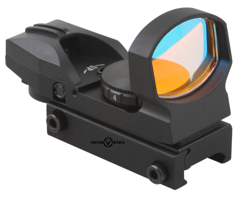 Vector Optics IMP 1x23x34 Reflex Red Dot Sight Scope with 20mm Mount fit Picatinny Weaver Rails for 12ga Shotgun Air Gun Rifles vector optics rayman 1x30 tactical 21mm weaver rise mount red laser gun reflex red dot sight scope