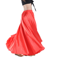 16 Colors Professional Women Belly Dancing Clothes Full Circle Satin Skirts Flamenco Skirts Plus Size Belly