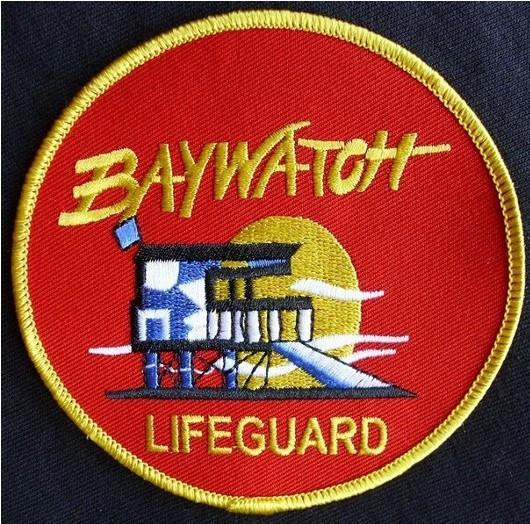 """Baywatch lifeguard tv series badge patch embroidered 3""""   ebay."""