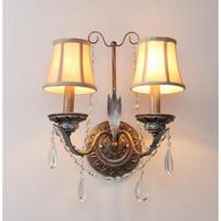 Bar antiguo rústico lámpara de pared de hierro accesorios espejo led aplique para dormitorio comedor pasillo vintage lámpara de pared de cristal