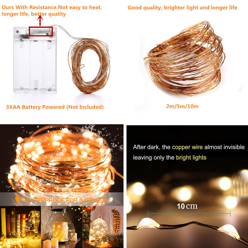 string light AA battery