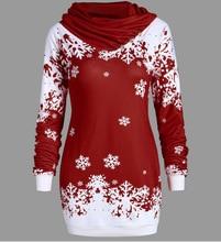 Christmas sweatshirt long-sleeved snowflake print hoodies women harajuku hoodie long coat woman clothes sweatshirts gothic snowflake funny christmas hoodie