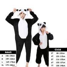 Animal Cartoon Kigurumi Stitch Panda Pajamas Unicorn Onesie Pajamas For Women Kids Pyjamas Boys Girls Cosplay Costumes Sleepwear недорого