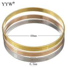 New Fashion Stainless Steel Love Cuff Bangle Gold Color Multilayer Lover Charm Bracelets & Bangles For Women Men 3PCs/Set цена
