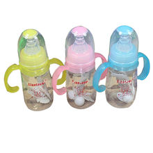 Cute Baby Feeding Bottle Newborn Girl Boy Learn Drink Training Cup with Handle Straw Milk Juice Water Drinking Bottle 120ml(China)