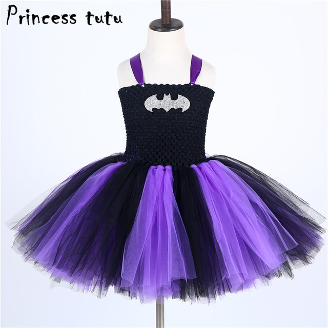 PRINCESS TUTU Fancy Baby Girl Clothes Batgirl Costume Cosplay Batman ...