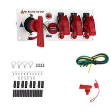 Painel Interruptor de Ignição Do Carro De corrida com LED 12 V Interruptor De Ignição Panel Engine Start Empurre Botões de Alternância Conjunto Kit