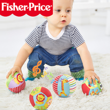 Купить с кэшбэком FISHER PRICE Baby Toys For Baby Rattles Ball with Sounds Soft Plush Mobile Toys Baby Speelgoed Juguetes Para Los Ninos