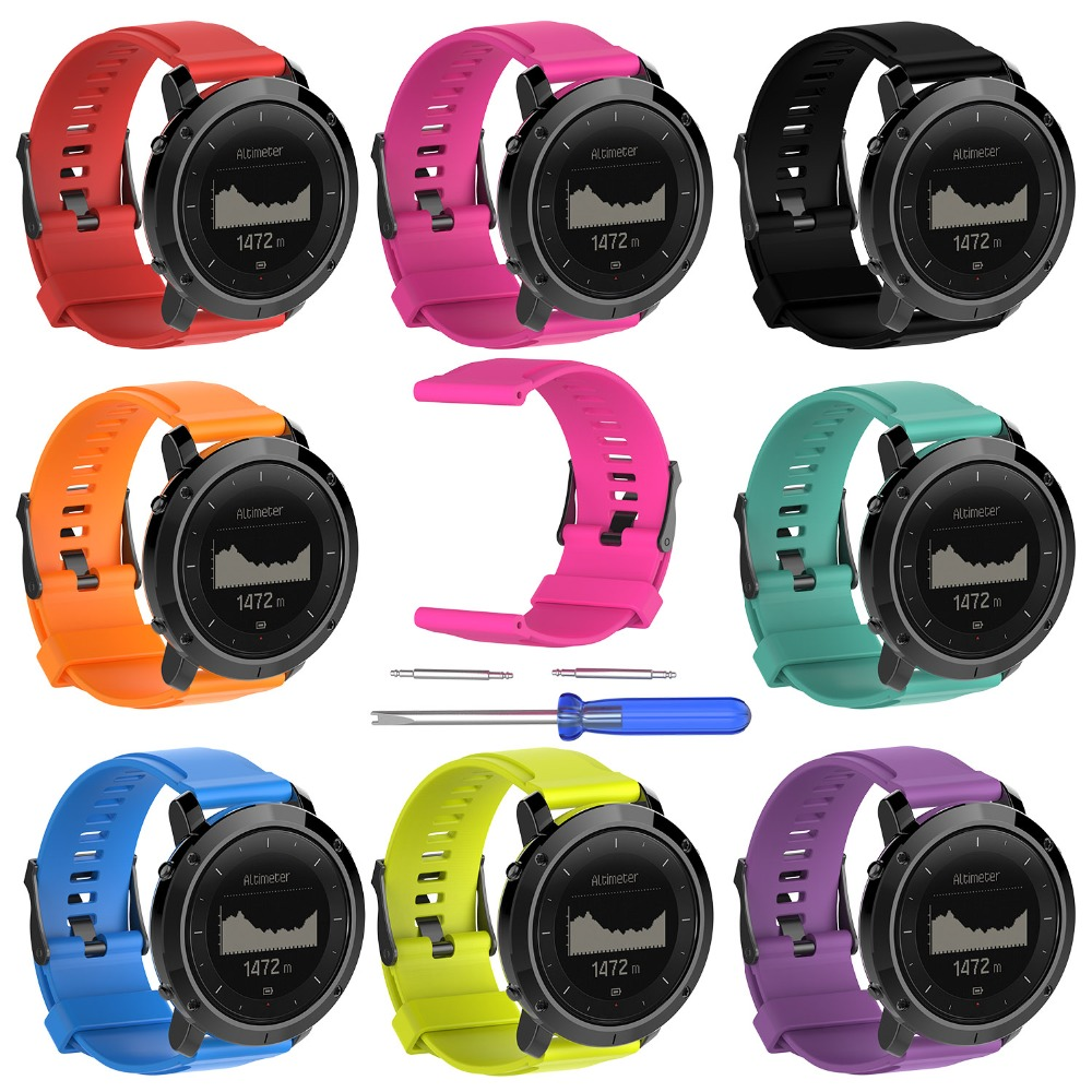 10pcslot Smart Watchband Silicone Wristband Replacement Strap for Suunto Traverse Series Smart Watch Band with tools