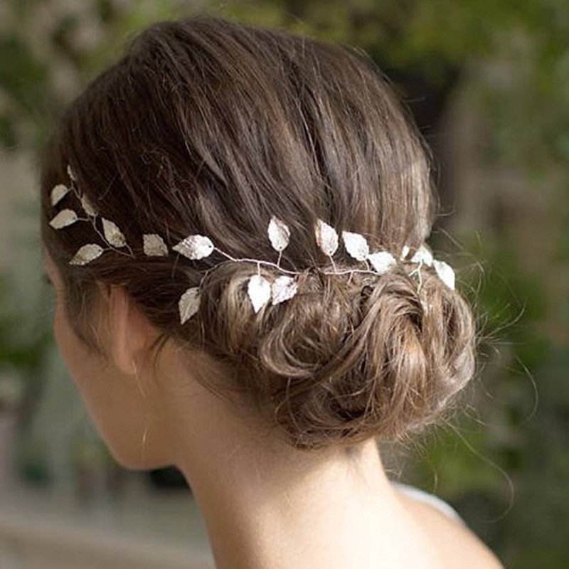 Hair-Band Bride-Accessories Elegant Handmade Beautiful Fashion Women Leaves Simple