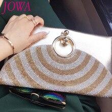 2017 frauen Neue Mode Umschlag Taschen Shiny Diamant Tageskupplungen Lässige Ketten Schulter Paket Night Party Schwarze Handtasche 2 farbe