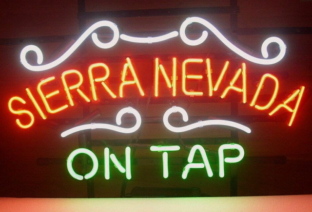Custom Sierra Nevada On Tap Glass Neon Light Sign Beer Bar