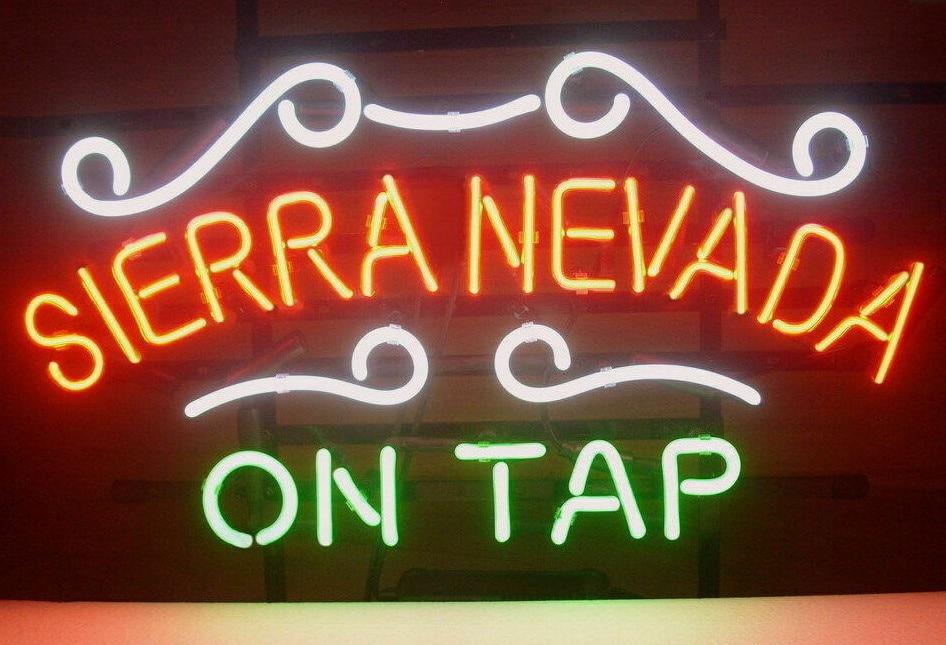 Custom Sierra Nevada Su Rubinetto di Vetro Luce Al Neon Della Birra BarCustom Sierra Nevada Su Rubinetto di Vetro Luce Al Neon Della Birra Bar