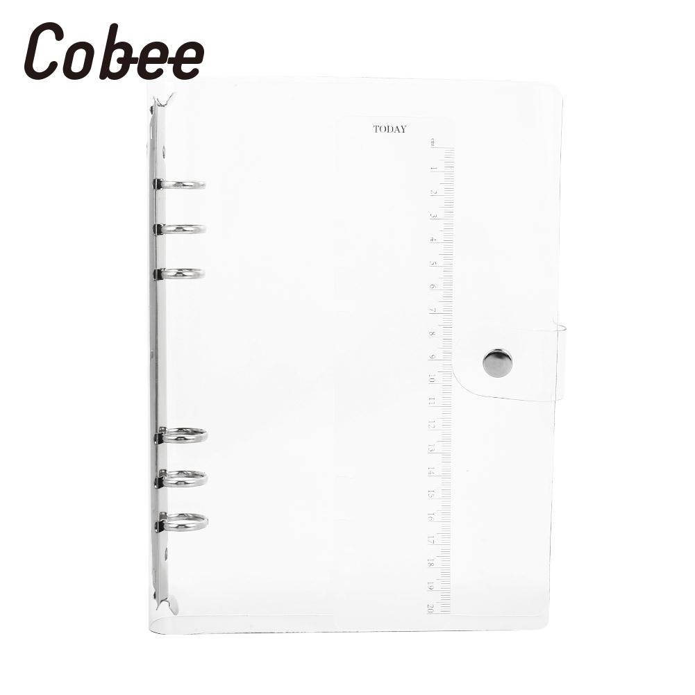 Notebook Cover A5/A6/A7 DIY 6 Holes Binder Diary Planner Cover Waterproof Economic Notepad Ring Binder Covers