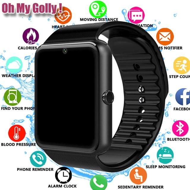 2019 Bluetooth Relógio Inteligente para Iphone Samsung Xiaomi Android Suporte Do Telefone para Huawei 2G Câmera Cartão TF SIM Smartwatch PK X6 Z60