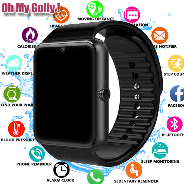 2019 Bluetooth <font><b>Smart</b></font> <font><b>Watch</b></font> for Iphone <font><b>Phone</b></font> for Huawei Samsung Xiaomi Android Support 2G SIM TF Card Camera Smartwatch PK X6 Z60 image