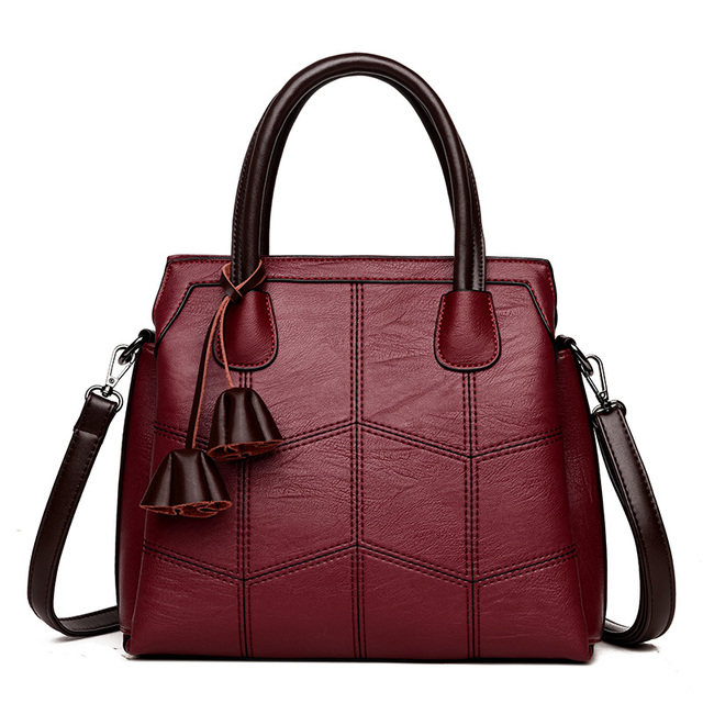 VANDERWAH High Quality Leather Shoulder Bag Bolsas Feminina Luxury Lady Handbags Casual Large Capacity Women Tote Bag Sac A Main