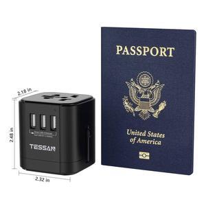 Image 4 - Tessan Du Lịch Đa Năng Điện Quốc Tế Cắm Sạc 3 Cổng USB Cho US/EU/AU/Vương Quốc Anh/FR/Ý Ổ Cắm Điện Cắm